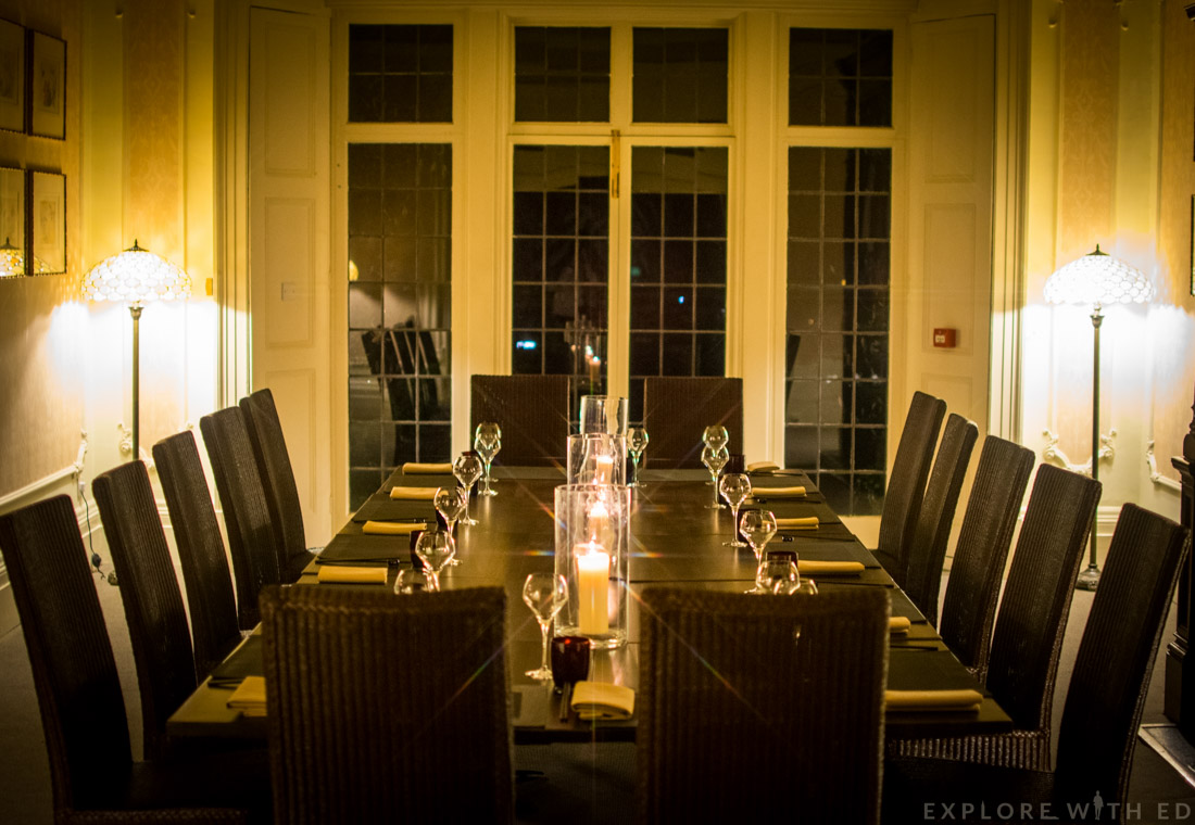 Larkin Cen restaurant, private dining area