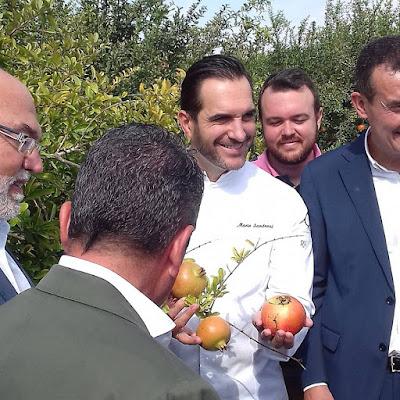 El chef Mario Sandoval inaugura la campaña de la granada Mollar de Elche