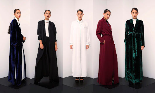 Fascinating Velvet Robes & Minimalist Details. Bouguessa.
