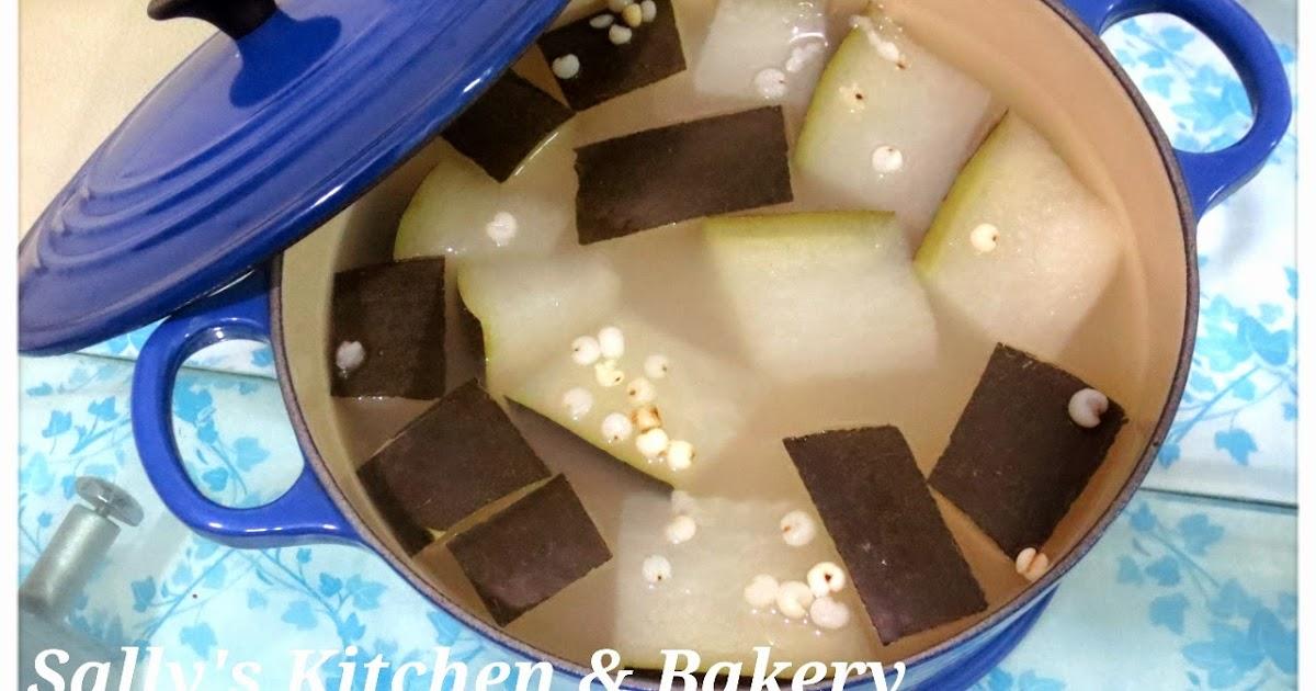 Sally's Kitchen & Bakery: [大暑湯水] 冬瓜薏米水(附食譜) - LC22 Round