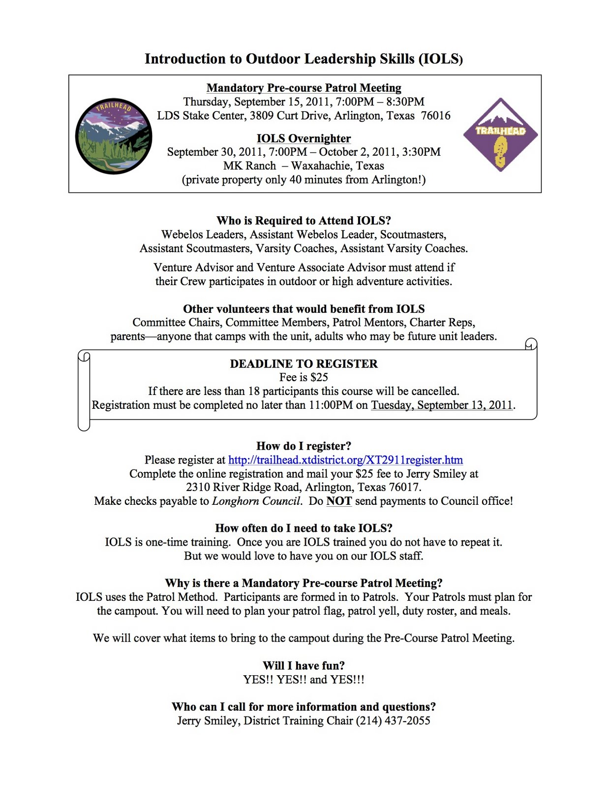 BSA Cross Timbers District: Introduction to Outdoor