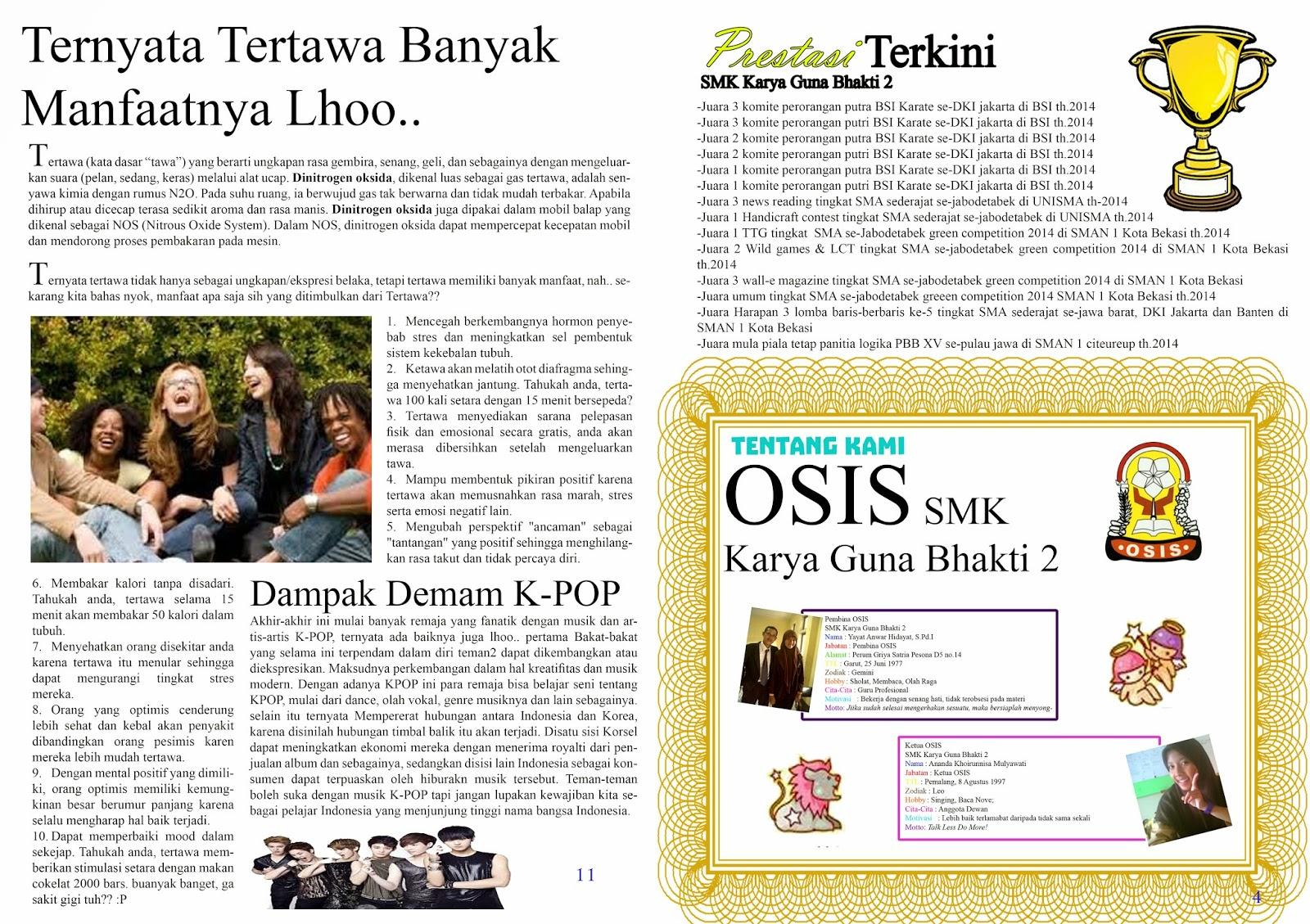 Osis Smk Karya Guna Bhakti 2 Kota Bekasi