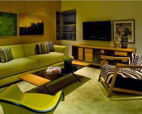 Foto Warna Cat Ruang Tamu Rumah Minimalis Modern Terbaik Hijau Muda Nan Elegan