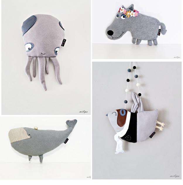 grey soft toys