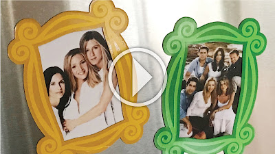 Monica Picture Frame Friends Fridge Magnet SVG File Video Tutorial