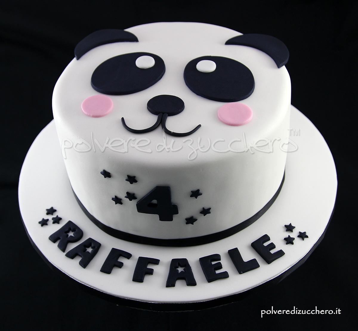 torta decorata cake design panda pasta di zucchero panda cake polvere di zucchero
