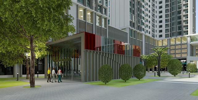 Phối cảnh một góc khuôn viên chung cư Eco Green City