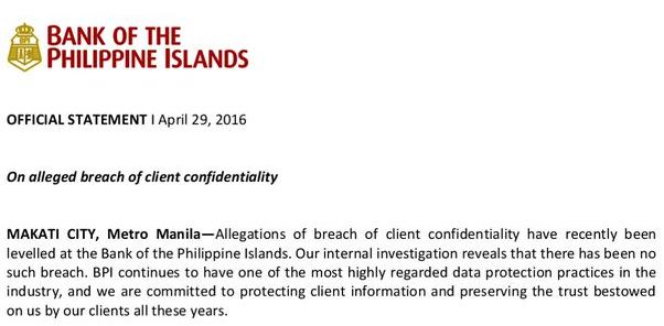 BPI statement