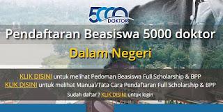 Juknis Dan Tata Cara Pendaftaran Beasiswa Program 5000 Doktor Dalam Negeri