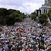 Así se escuchó el himno entonado por miles de venezolanos