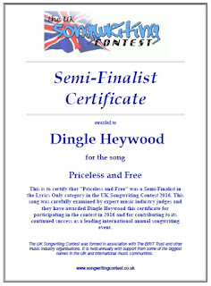 my song competition certificates