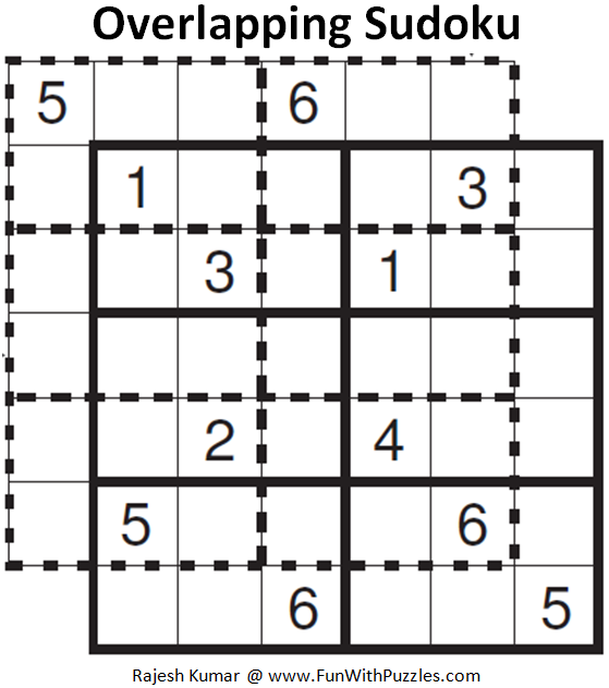 Overlapping Sudoku (Mini Sudoku Series #72)