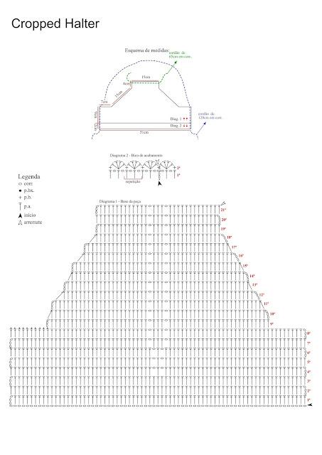 CROPPED HALTER схема кроп-топа