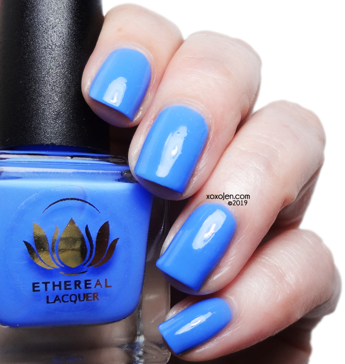 xoxoJen's swatch of Ethereal Lacquer Azul