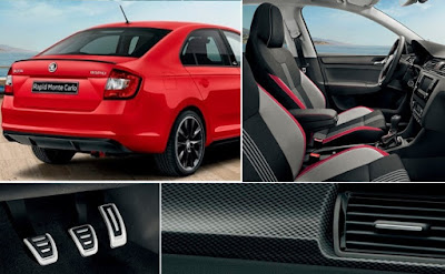 2017 Skoda Rapid Monte Carlo inside features