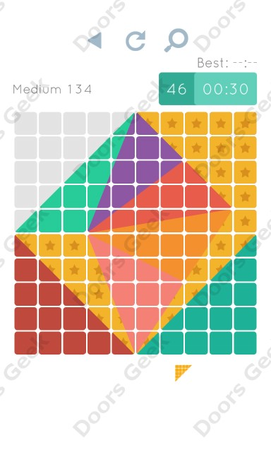 Cheats, Walkthrough for Blocks and Shapes Medium Level 134