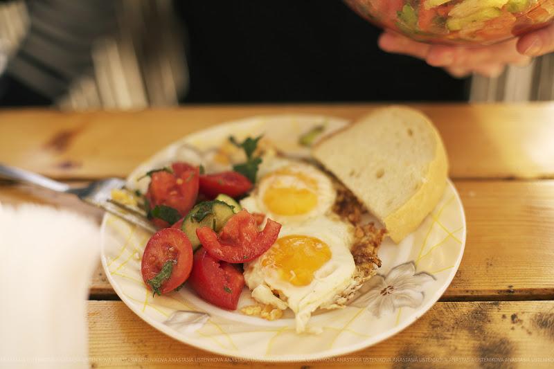 овощи и яйца - быстрый обед