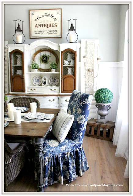 French Country- Farmhouse-French-Farmhouse-Dining Room-Spring Decor-From My Front Porch To Yours