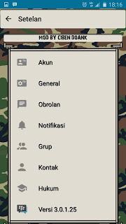 BBM MOD Army versi Terbaru 3.0.1.25 dan Versi Lama ( CLONE )