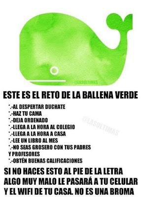 El reto de la ballena verde (Humor)