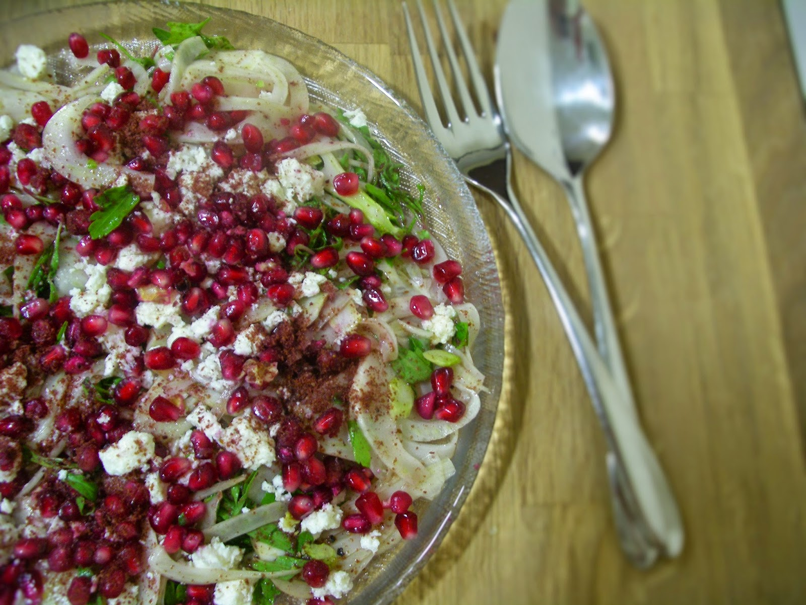 Fennel, feta and pomegranate salad