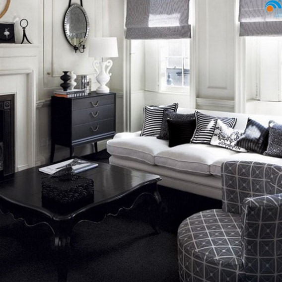 Desain Interior Ruang Tamu Hitam Putih Dengan Ruangan Berukuran Mungil Sekalipun Ditambah Sentuhan Modern Warna Dan Semua Akan Menjadi Lebih