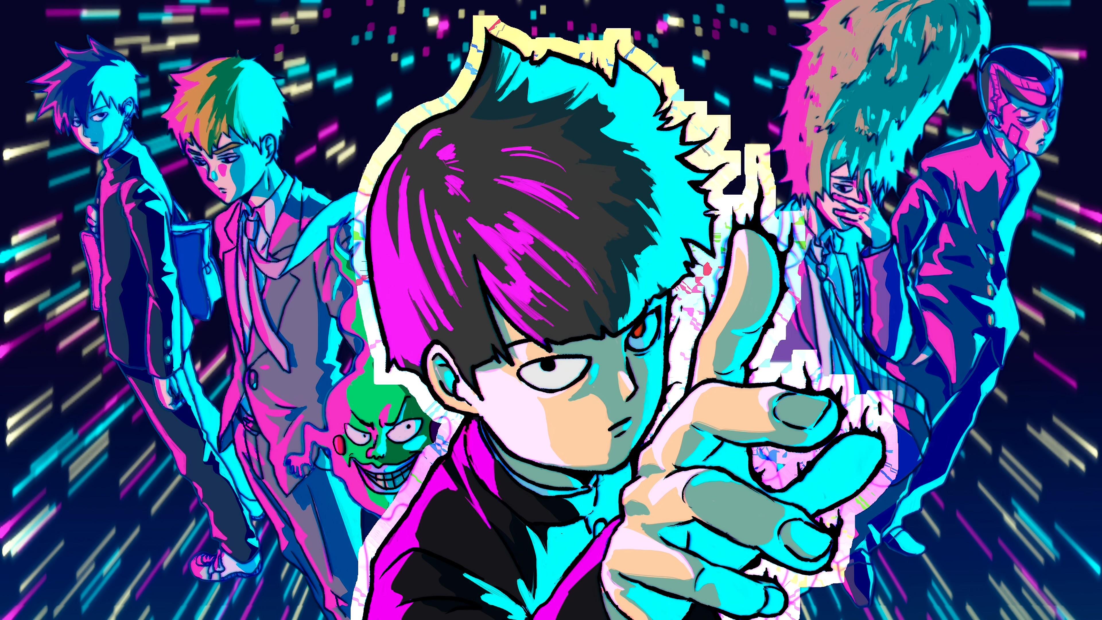 Mob Psycho 100 Anime Characters 4k 3840x2160 Wallpaper 26