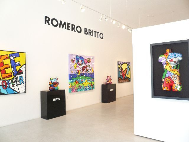 Como é a galeria de Romero Britto em Miami