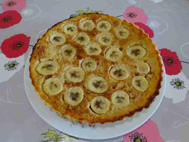 tarte rhum bananes