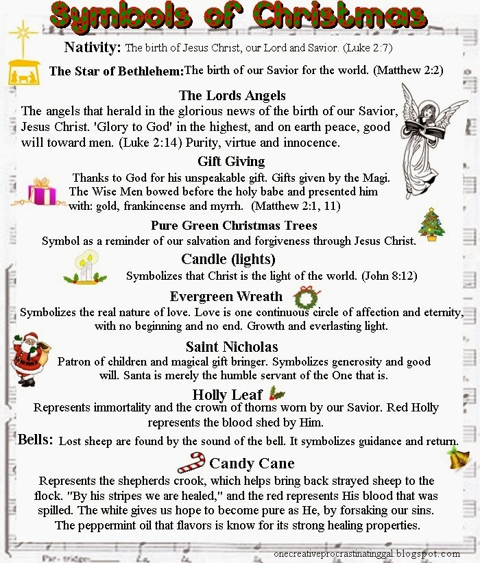 symbols of christmas and the meaning