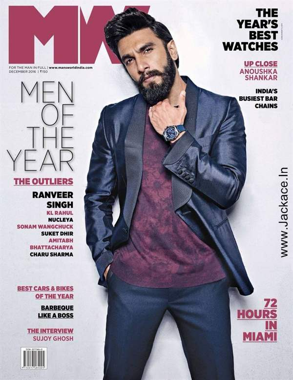 Ranveer Singh Looks Hot And Dashing In latest issue of Man's World Magazine Cover