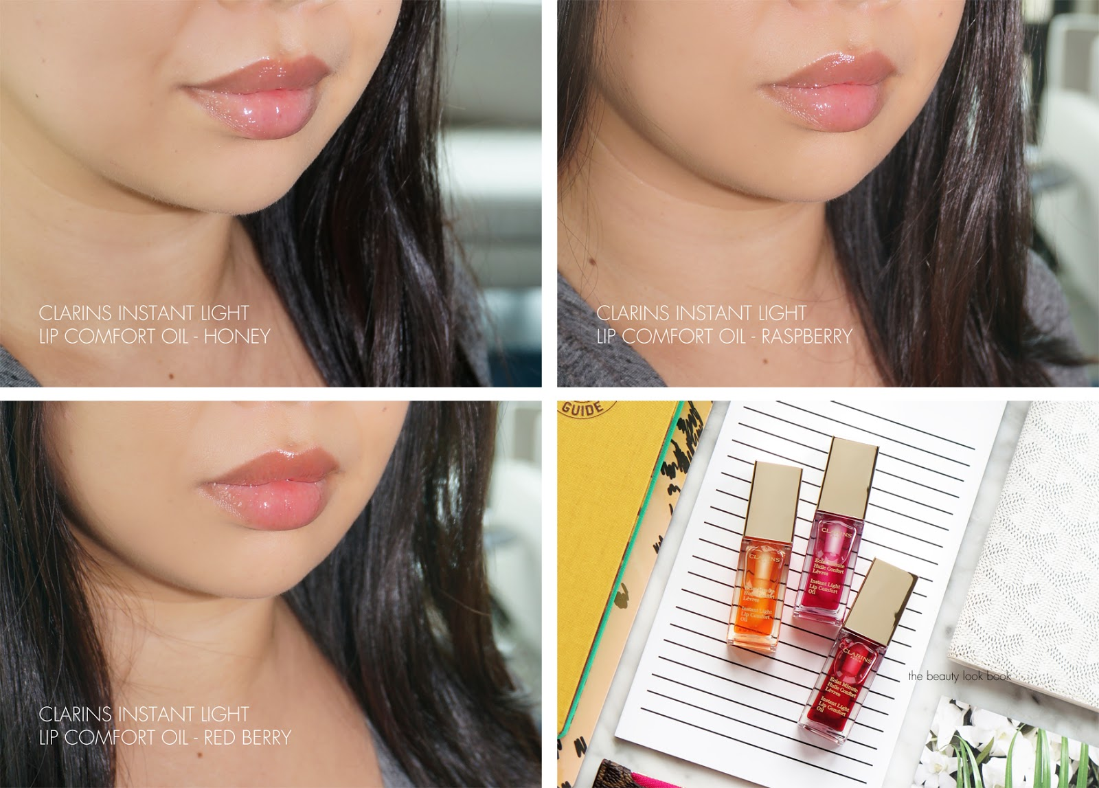 Clarins Instant Light Lip Comfort Oil Swatch Clarins Lip