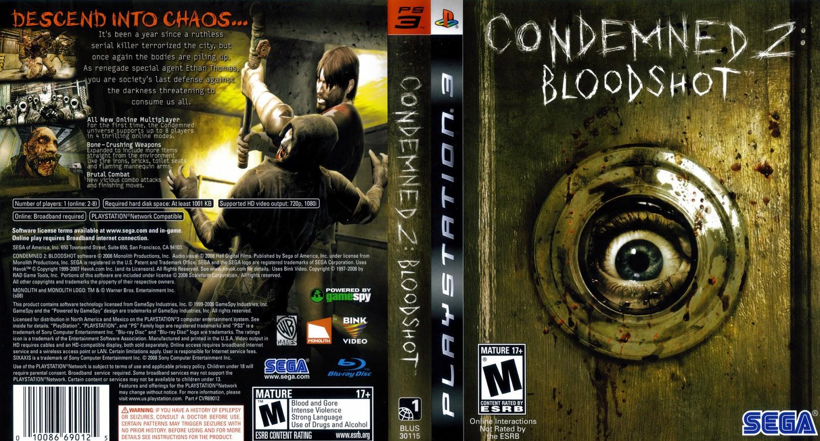 Condemned 2 bloodshot iso