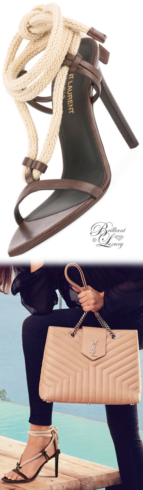 Brilliant Luxury ♦ Saint Laurent Majorelle Leather Rope Sandal