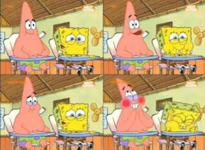Kumpulan gambar Polosan Meme Spongebob - Spongebob dan Patrick tertawa