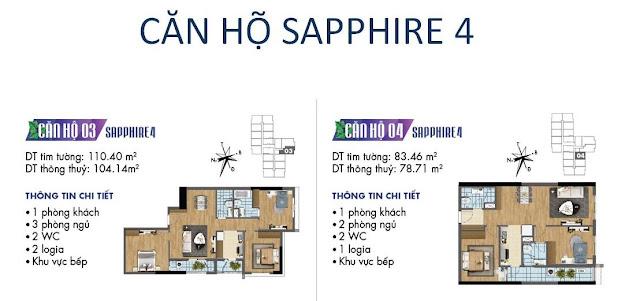 Căn hộ số 03, 04 tòa Sapphire 4- Goldmark City