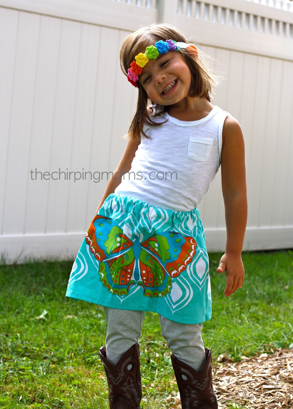 How to Make A Skirt From A Tea Towel - The Chirping Moms