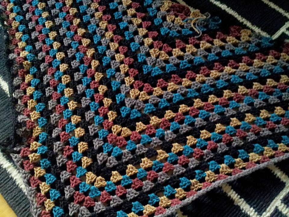 Granny Square Tuch Häkelspaß Aus Rowan Chenille
