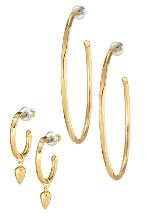 Stella & Dot Gold Orbit Hoops