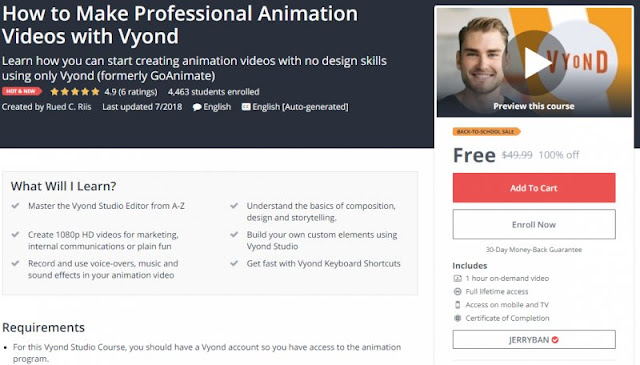 [100% Off] How to Make Professional Animation Videos with Vyond| Worth 49,99$