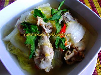 Cara Membuat Sayur Sawi Putih Resep Sup Ayam Kuah Bening