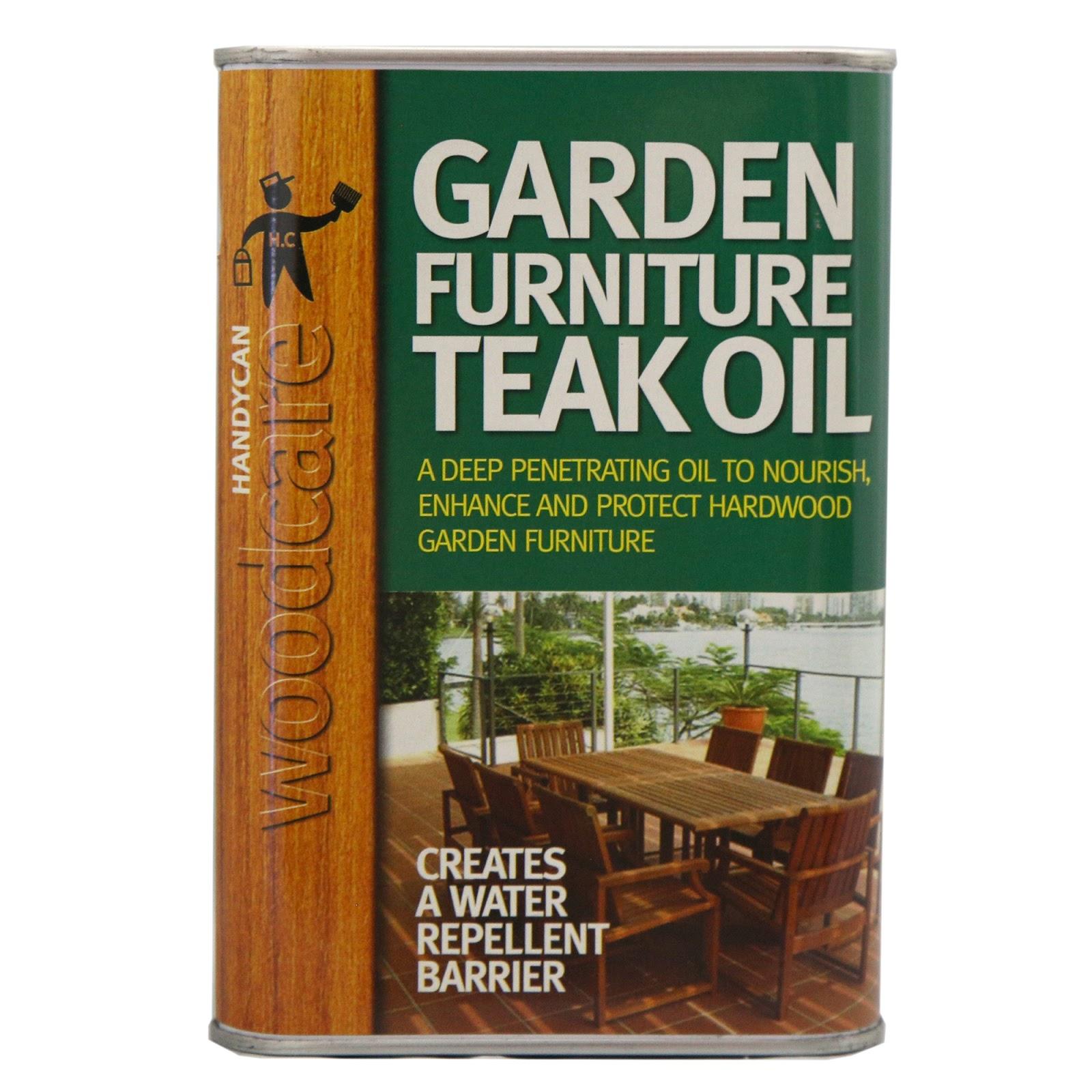 Survive the Elements: Handycan Garden Furniture TEAK Oil 10 Litre CLEAR