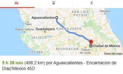 Como llegar a aguascalientes por autopista desde CD Mexico CDMX nueva carretera