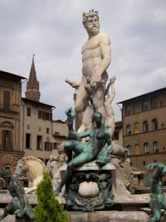 Bartolomeo Ammannati sculpted the  Fountain of Neptune in Florence