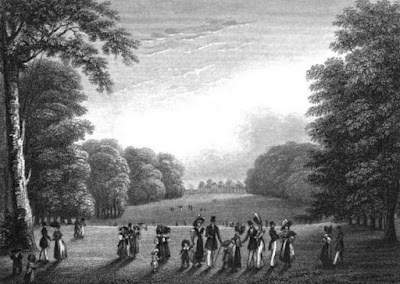 Kensington Gardens  from Views in Kensington Gardens by J Sargeant (1831)