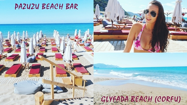 Travel video: GLYFADA beach and PAZUZU beach bar
