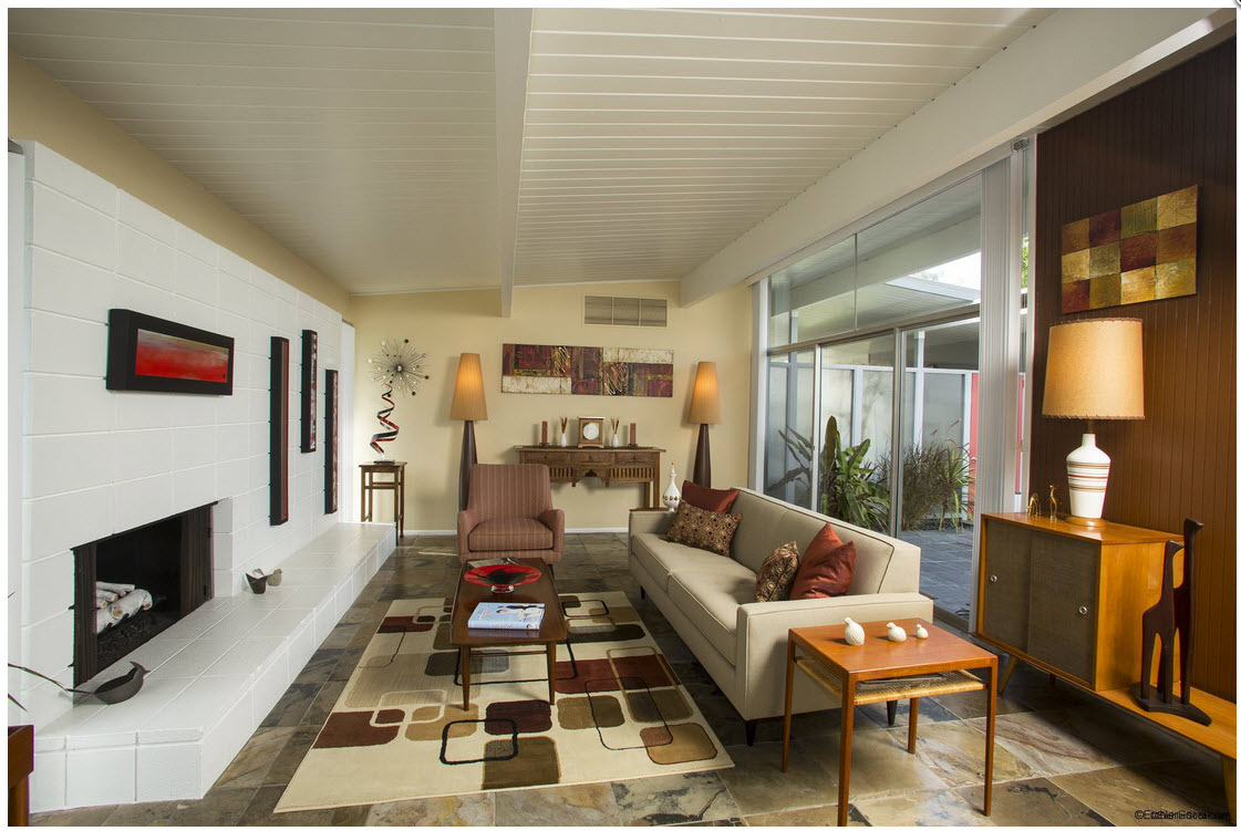 Photos Of Nicely Decorated Living Rooms Flush Ceiling Lights Room Artistic Eichler Exactingly Embellished | Mid-century ...