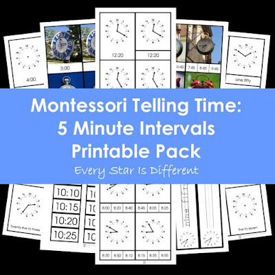 Montessori Telling Time: 5 Minute Intervals Printable Pack