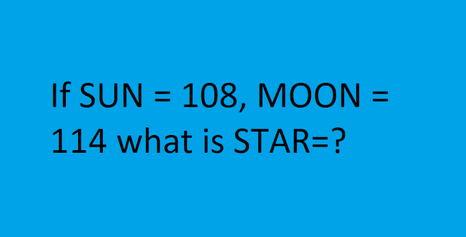 If SUN = 108, MOON = 114 what is STAR=?