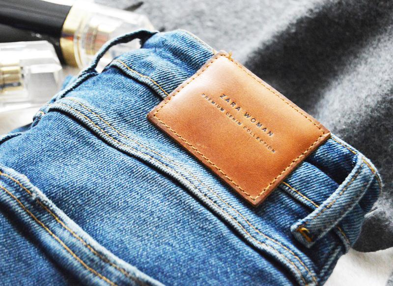Spodnie Zara z wysokim stanem
